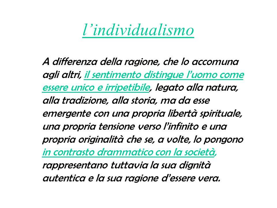 l'individualismo
