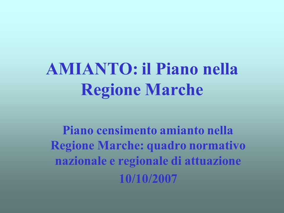 AMIANTO: il Piano nella Regione Marche