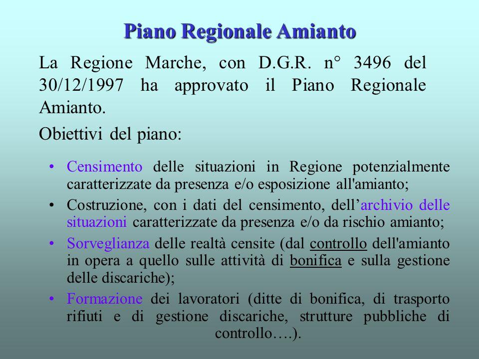 Piano Regionale Amianto