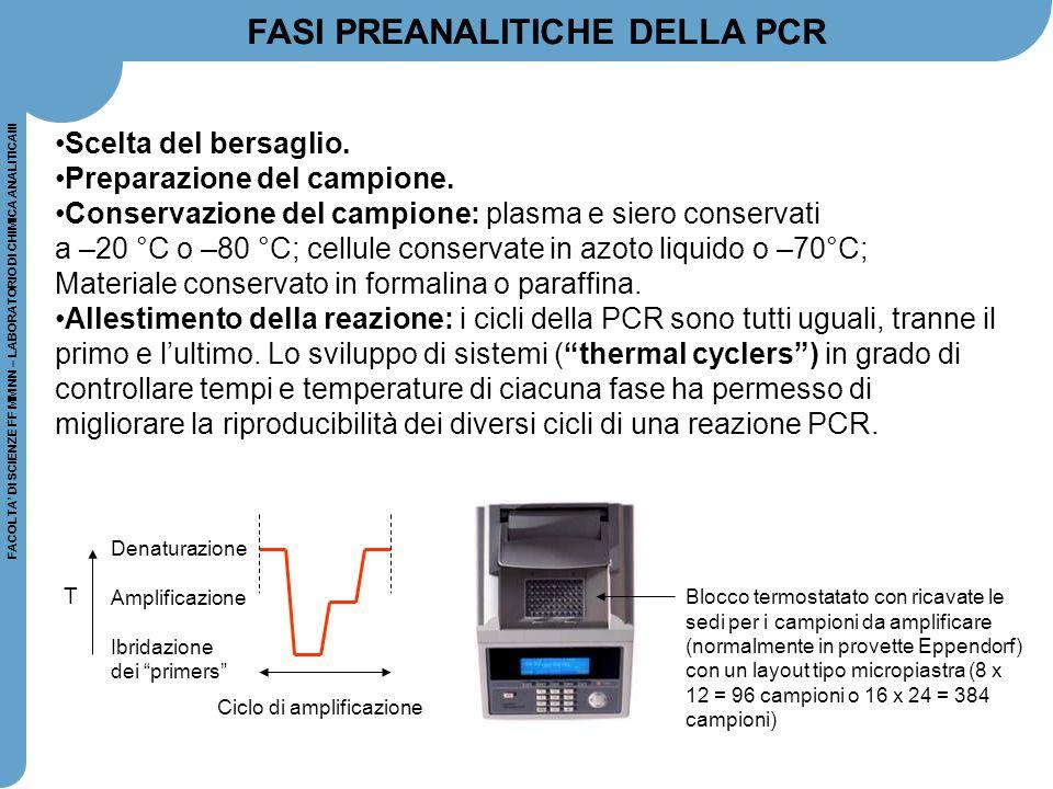 FASI PREANALITICHE DELLA PCR