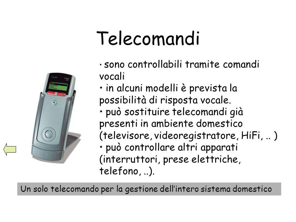 Telecomandi sono controllabili tramite comandi vocali. in alcuni modelli è prevista la possibilità di risposta vocale.