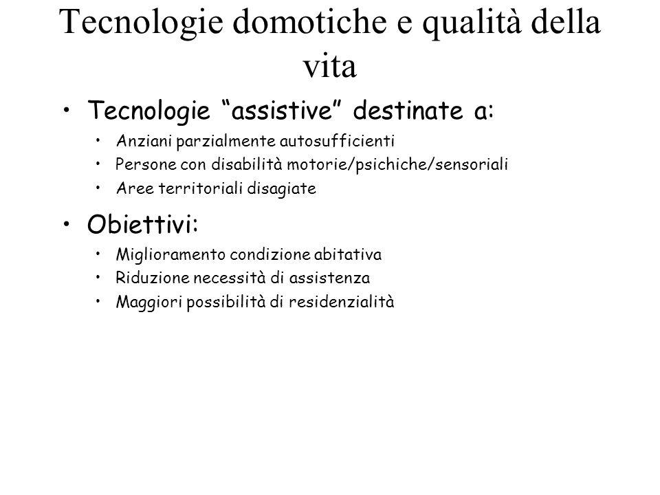 Tecnologie domotiche e qualità della vita