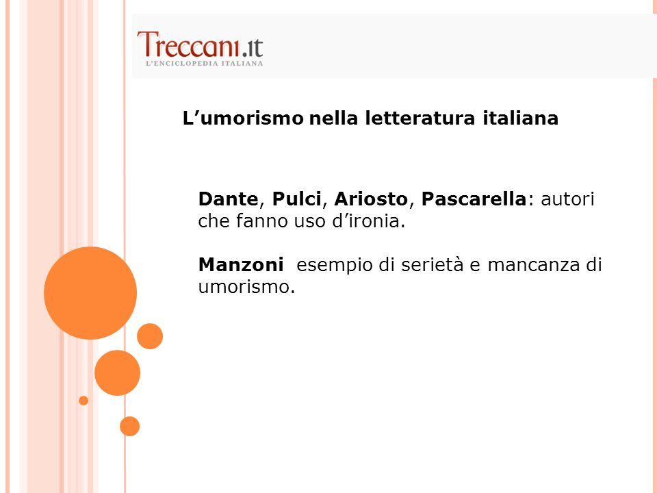 L'umorismo nella letteratura italiana