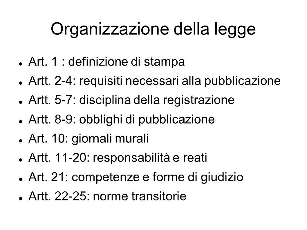 Organizzazione della legge