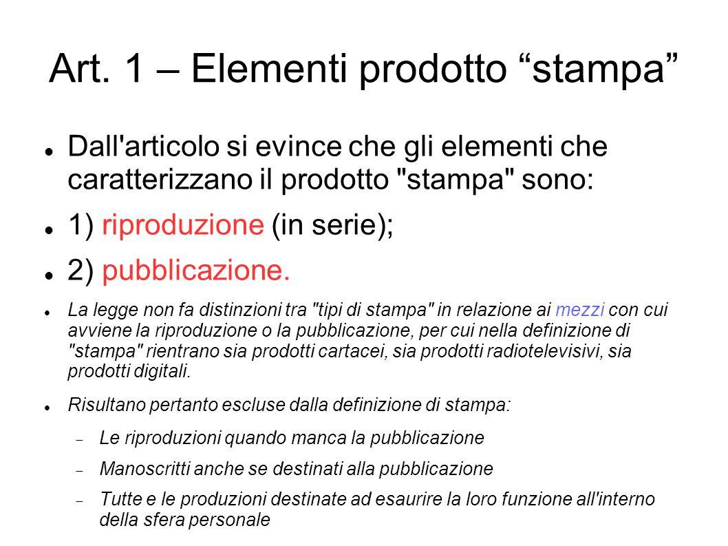 Art. 1 – Elementi prodotto stampa