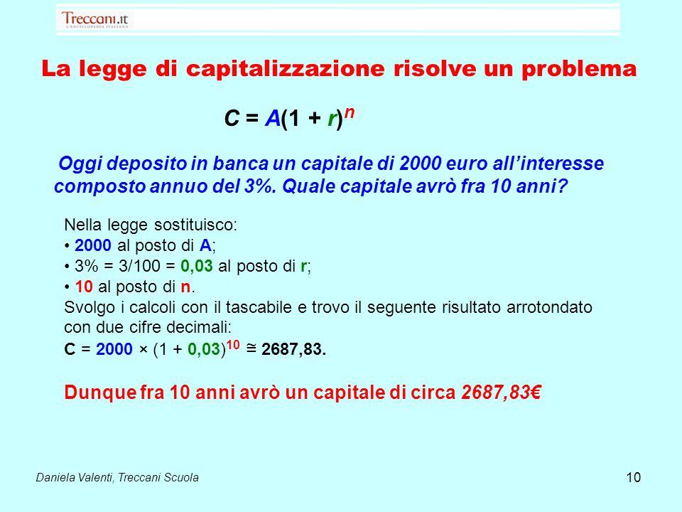 La legge di capitalizzazione risolve un problema