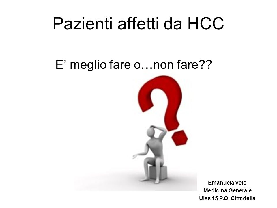 Pazienti affetti da HCC