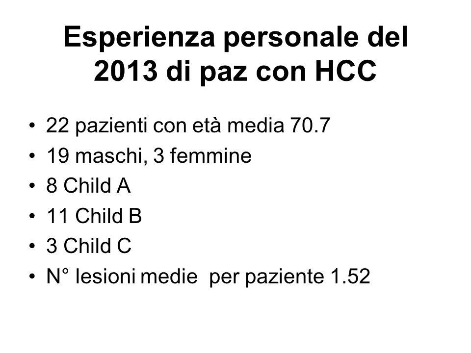 Esperienza personale del 2013 di paz con HCC