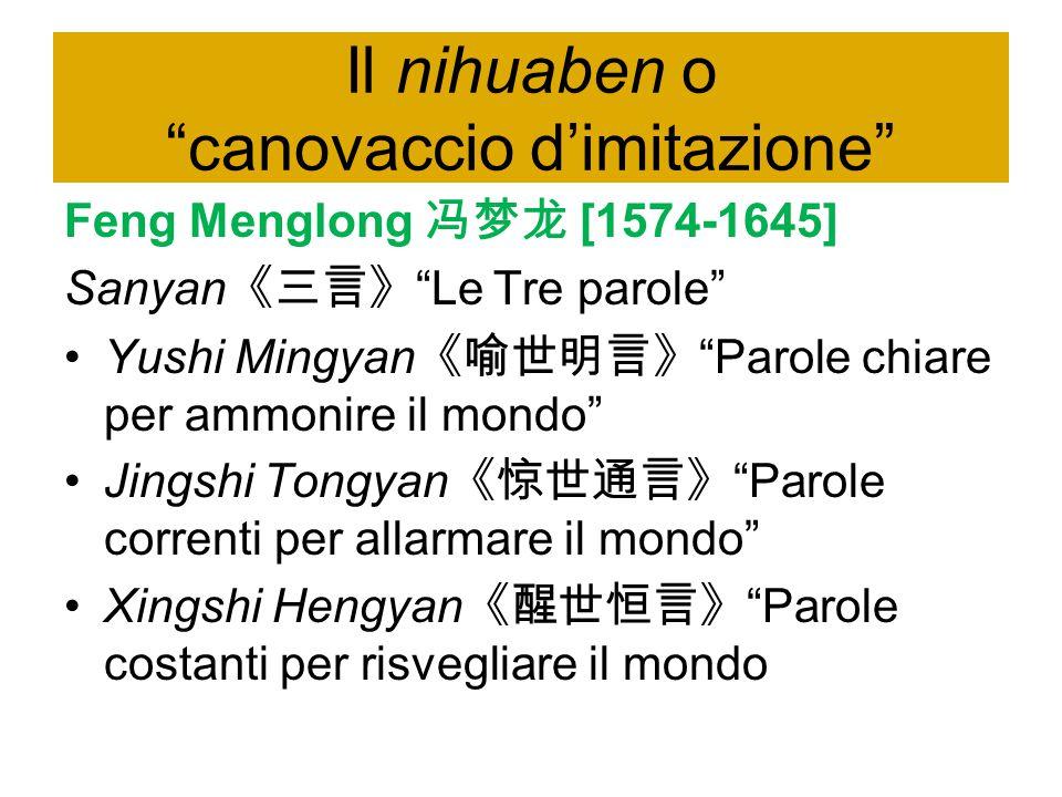 Il nihuaben o canovaccio d'imitazione