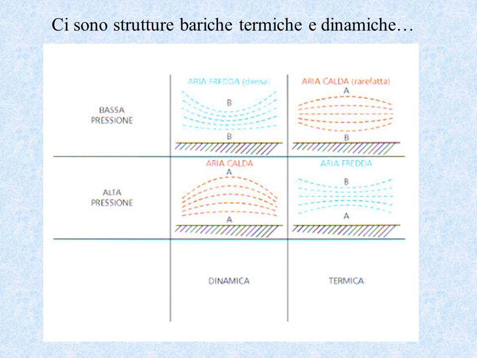 Ci sono strutture bariche termiche e dinamiche…