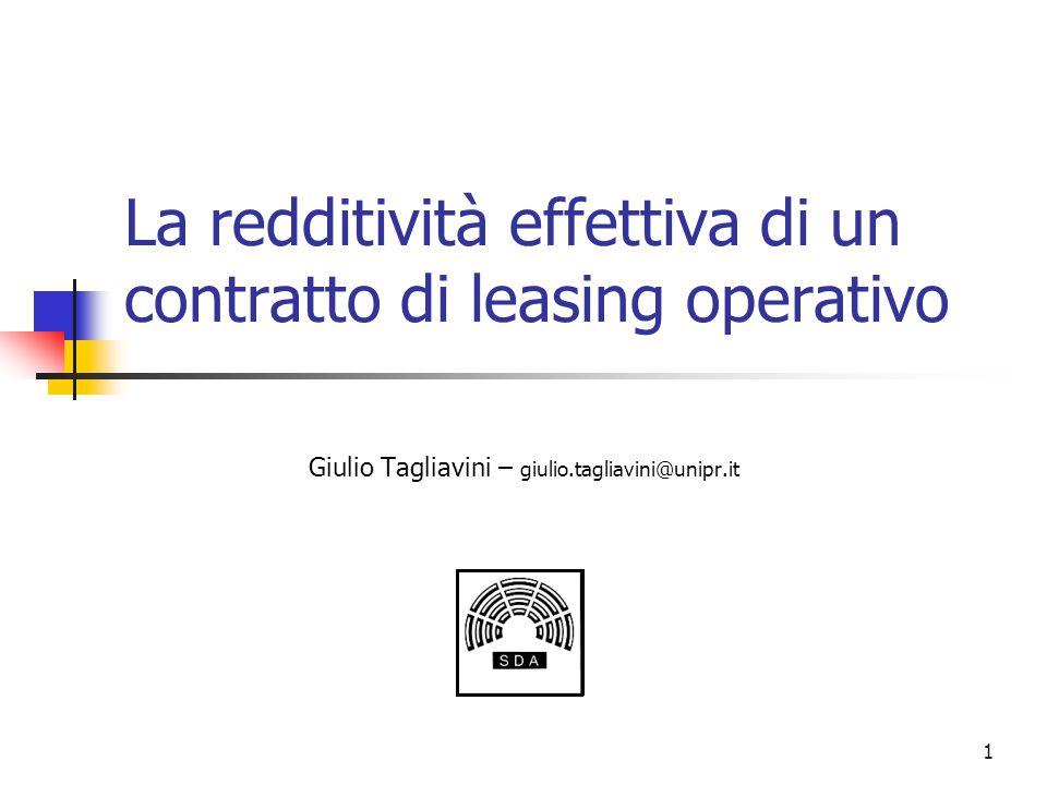 La redditività effettiva di un contratto di leasing operativo