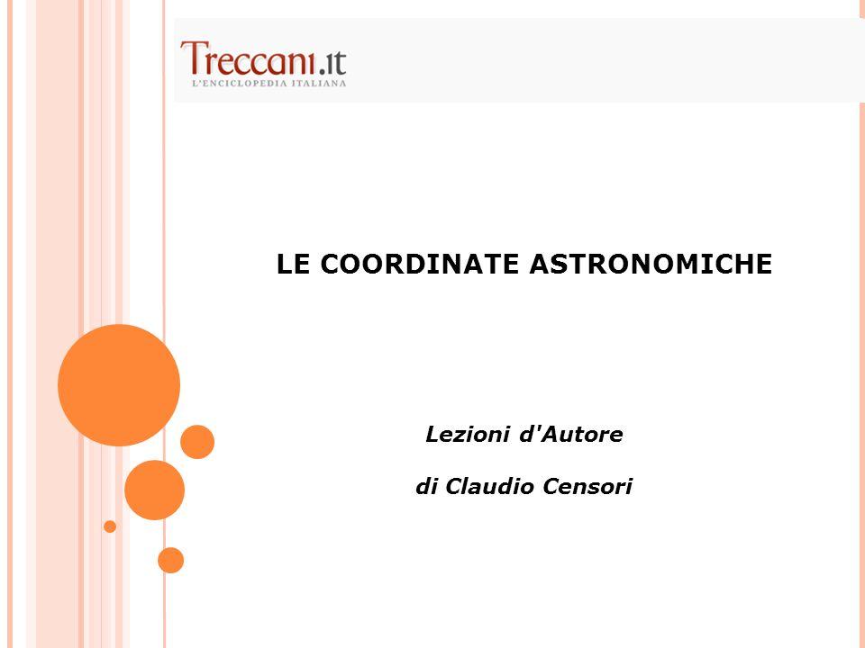 LE COORDINATE ASTRONOMICHE