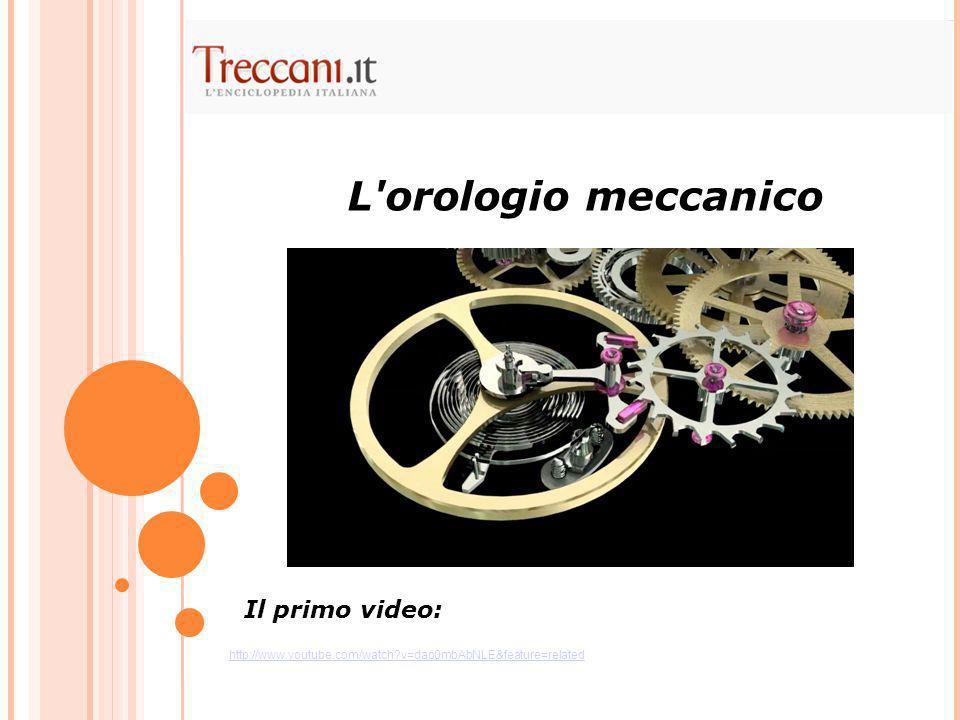 L orologio meccanico Il primo video: