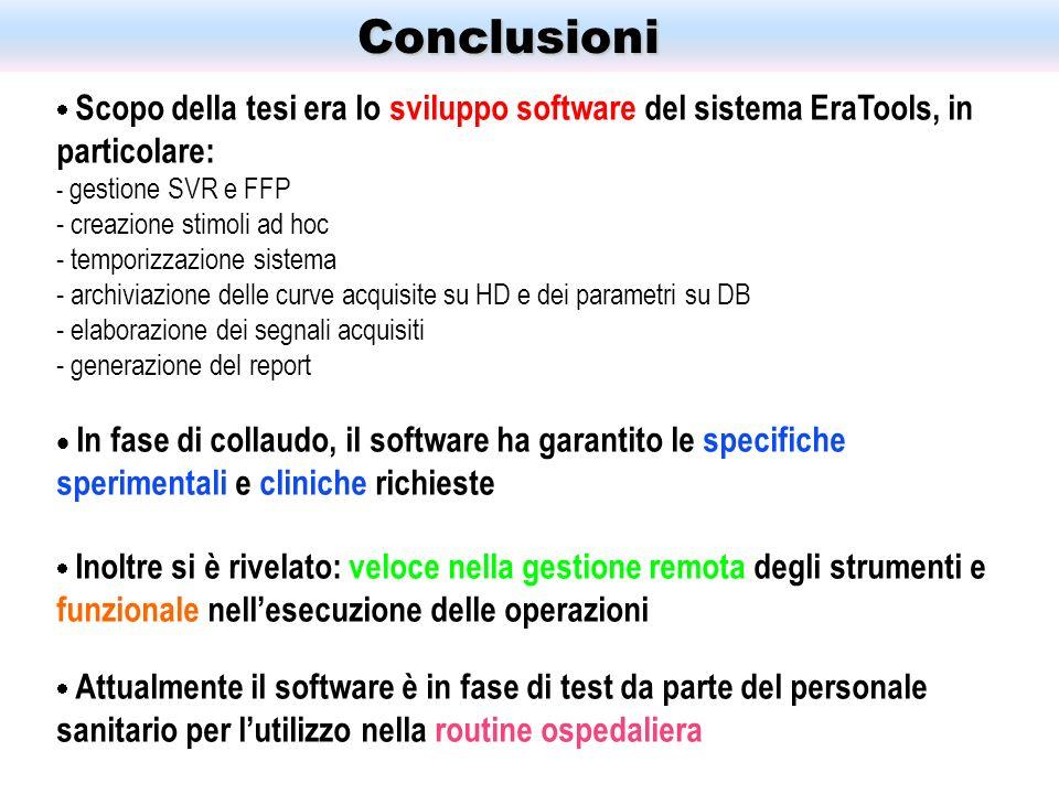 Conclusioni funzionale nell'esecuzione delle operazioni