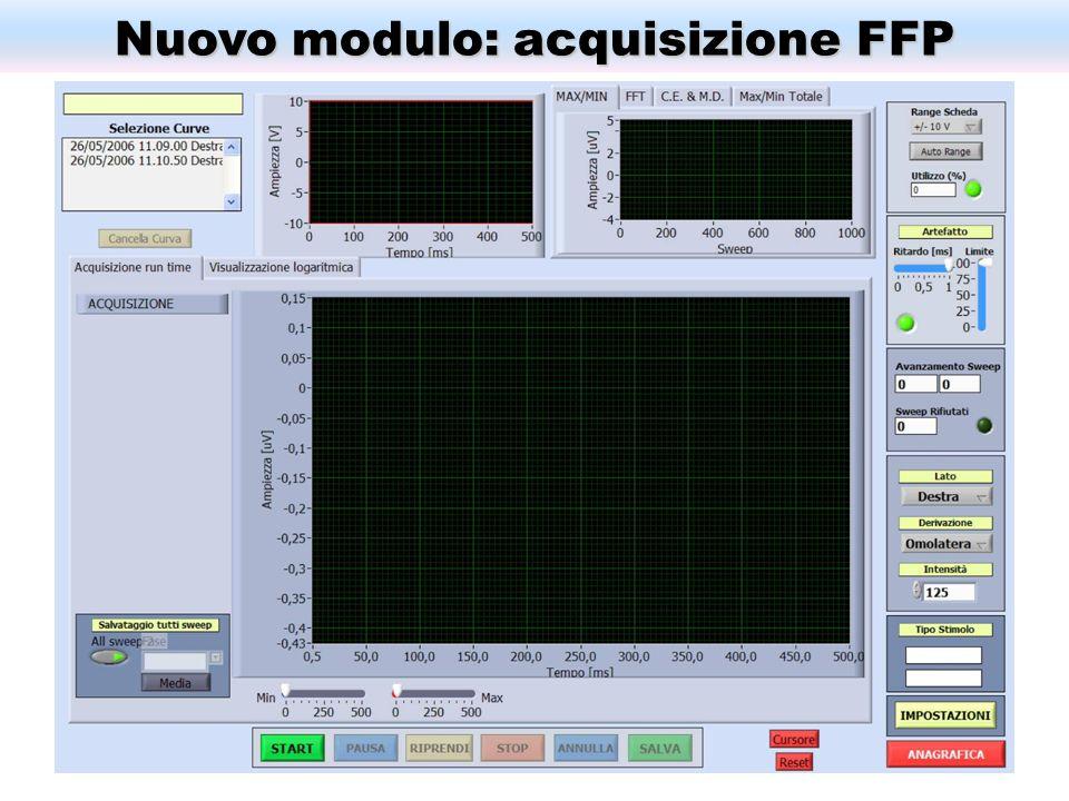 Nuovo modulo: acquisizione FFP