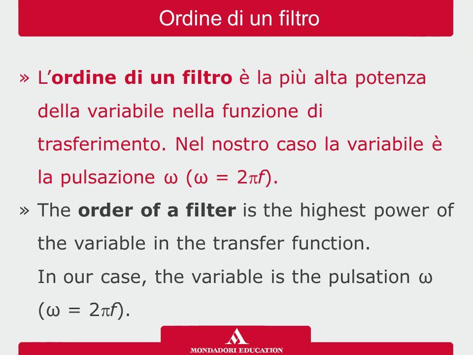 Ordine di un filtro