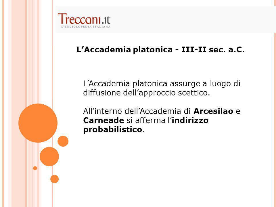 L'Accademia platonica - III-II sec. a.C.