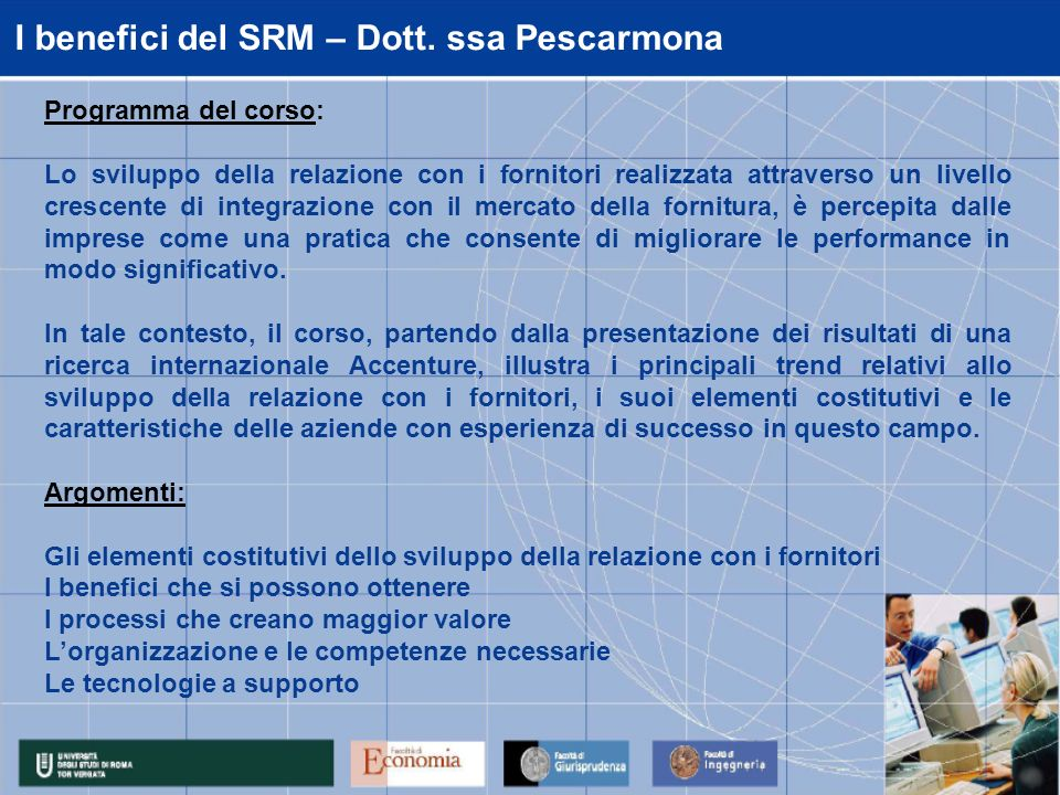 I benefici del SRM – Dott. ssa Pescarmona