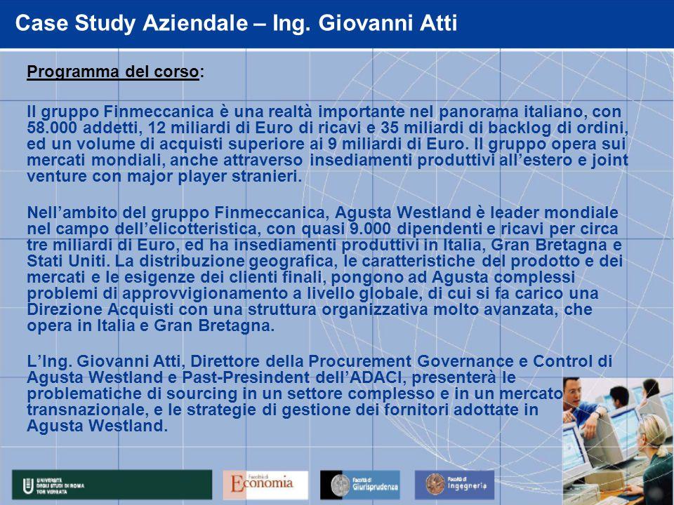 Case Study Aziendale – Ing. Giovanni Atti