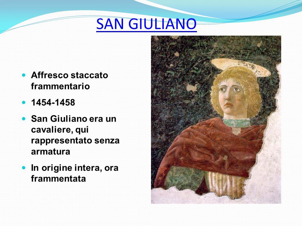 SAN GIULIANO Affresco staccato frammentario 1454-1458