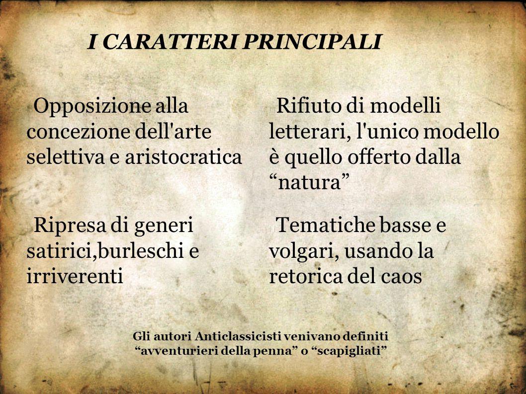 I CARATTERI PRINCIPALI