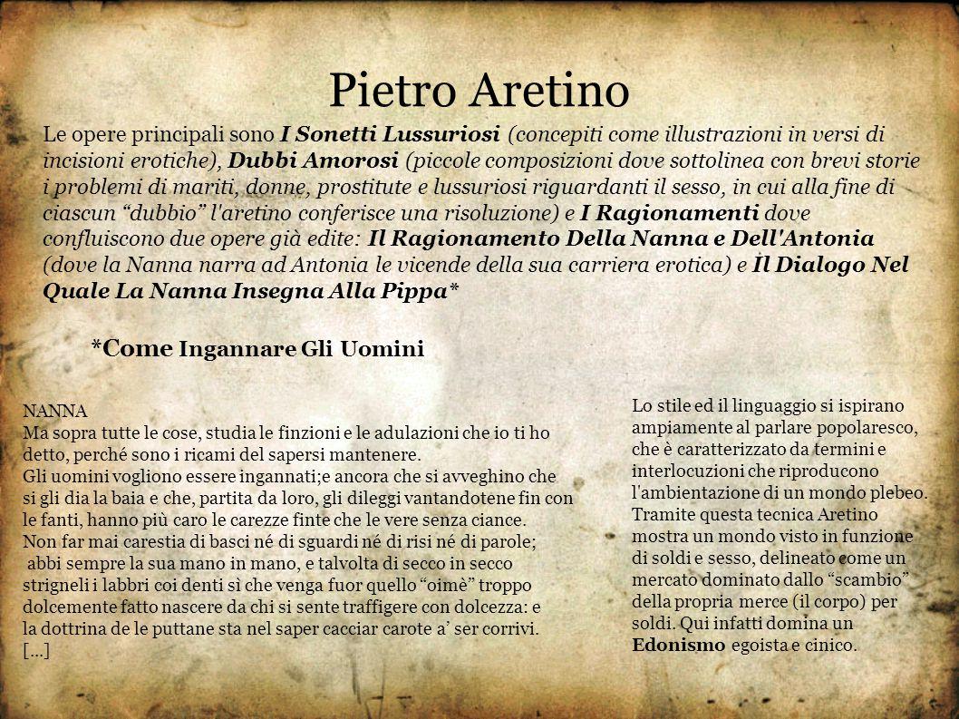 Pietro Aretino *Come Ingannare Gli Uomini