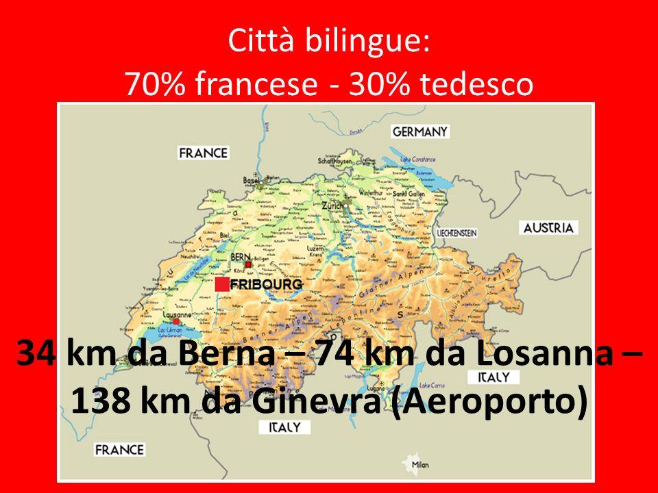 Città bilingue: 70% francese - 30% tedesco