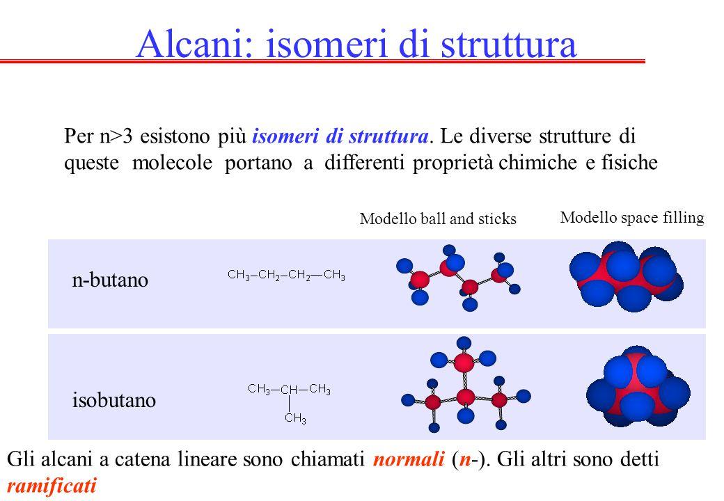 Alcani: isomeri di struttura