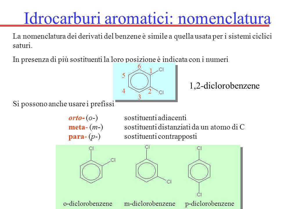 Idrocarburi aromatici: nomenclatura
