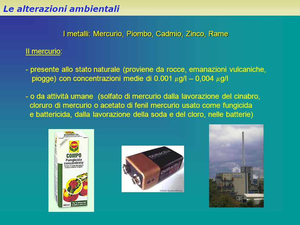Le alterazioni ambientali