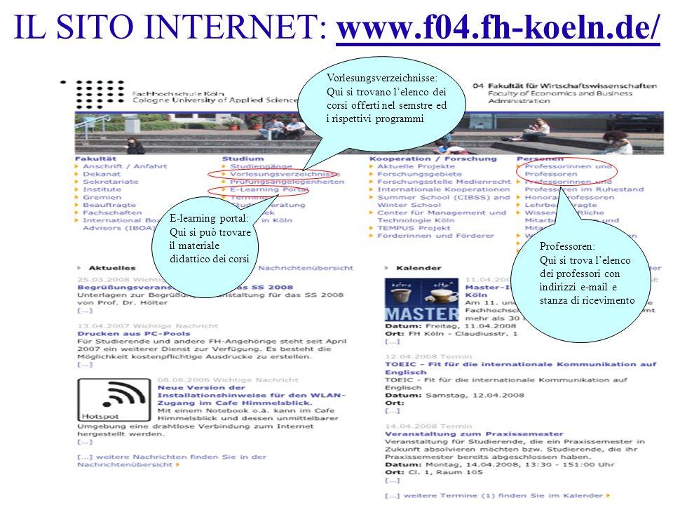 IL SITO INTERNET: www.f04.fh-koeln.de/