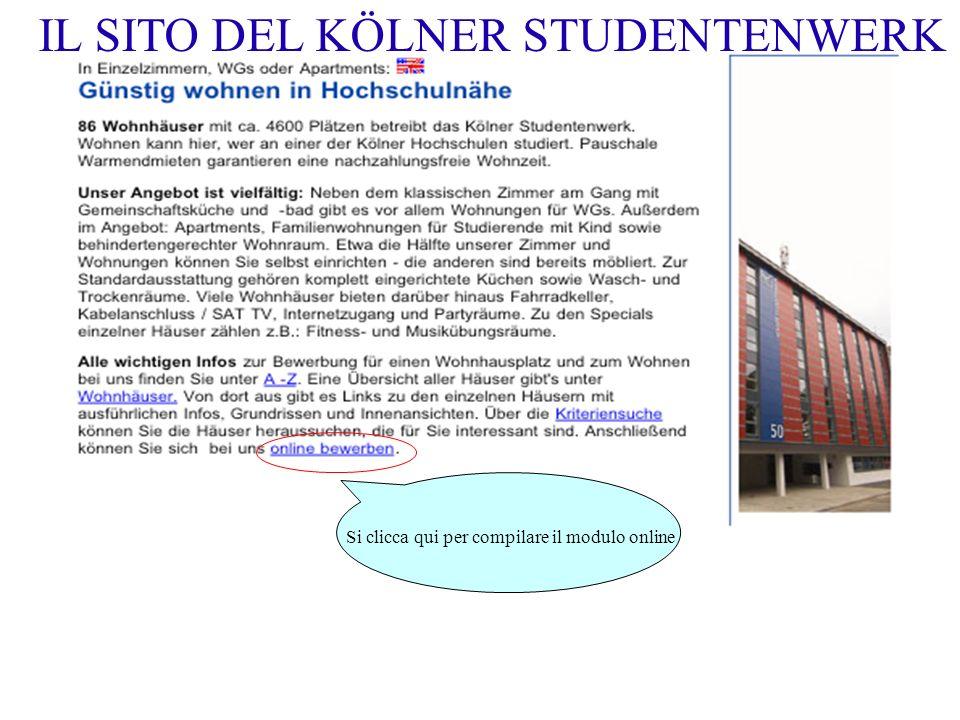 IL SITO DEL KÖLNER STUDENTENWERK