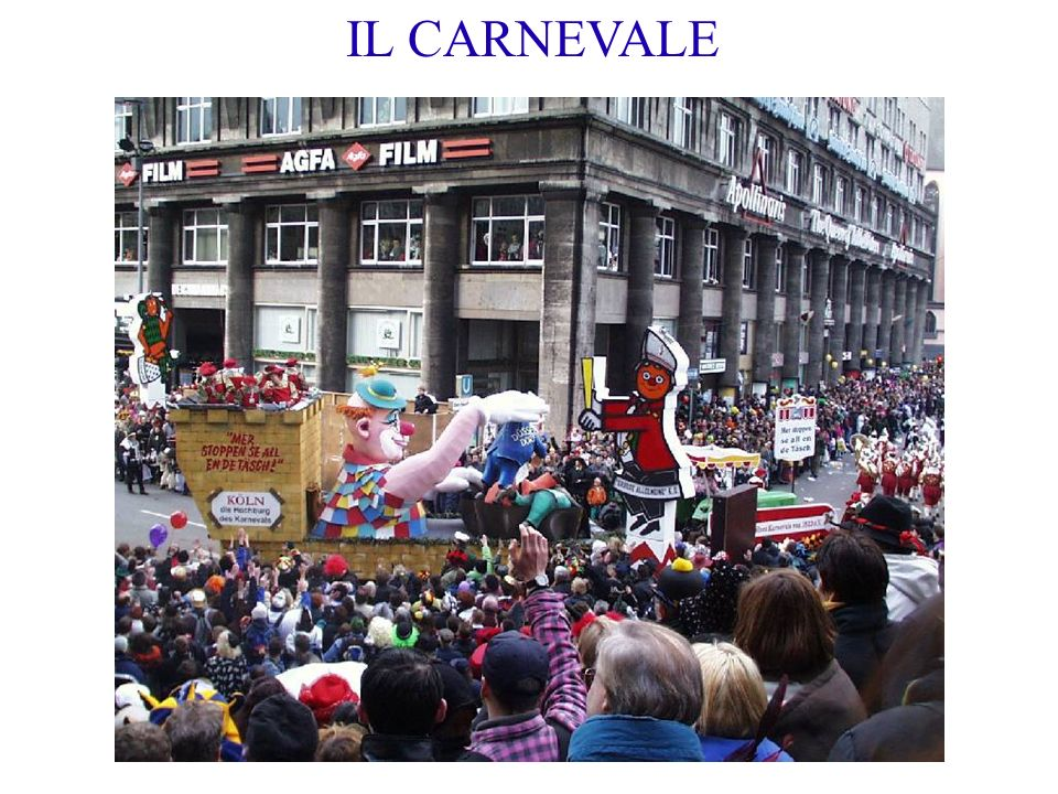 IL CARNEVALE 2. Il carnevale