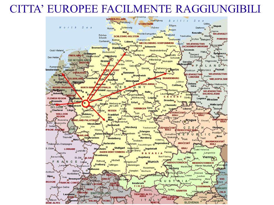 CITTA' EUROPEE FACILMENTE RAGGIUNGIBILI