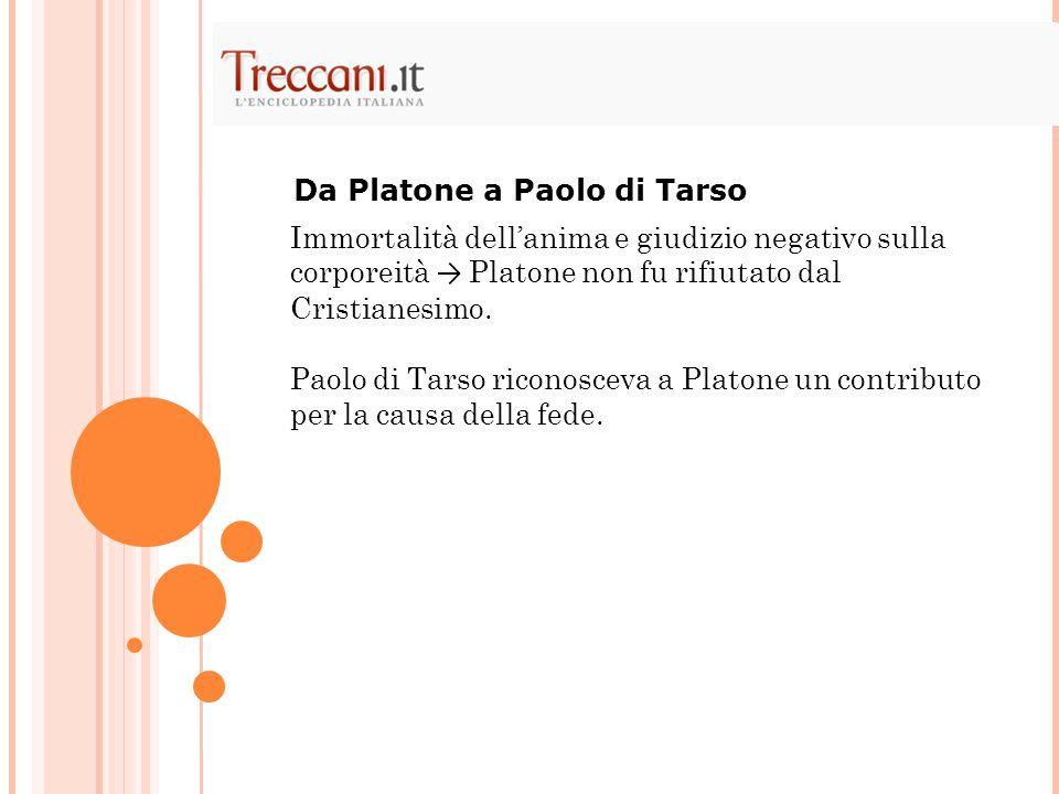 Da Platone a Paolo di Tarso