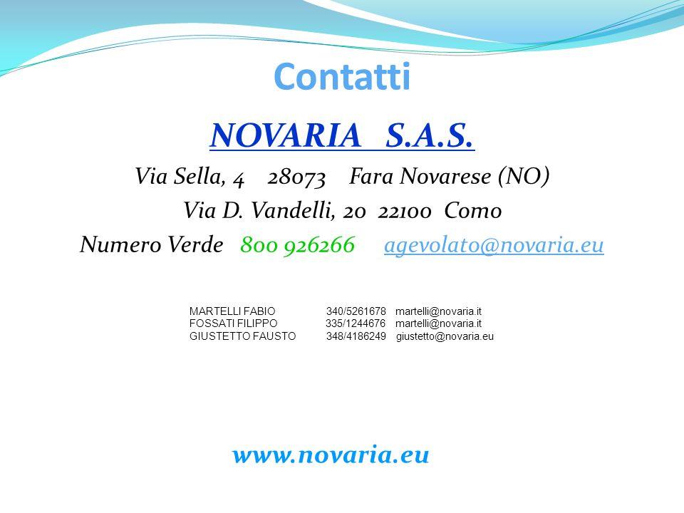 Contatti NOVARIA S.A.S. www.novaria.eu