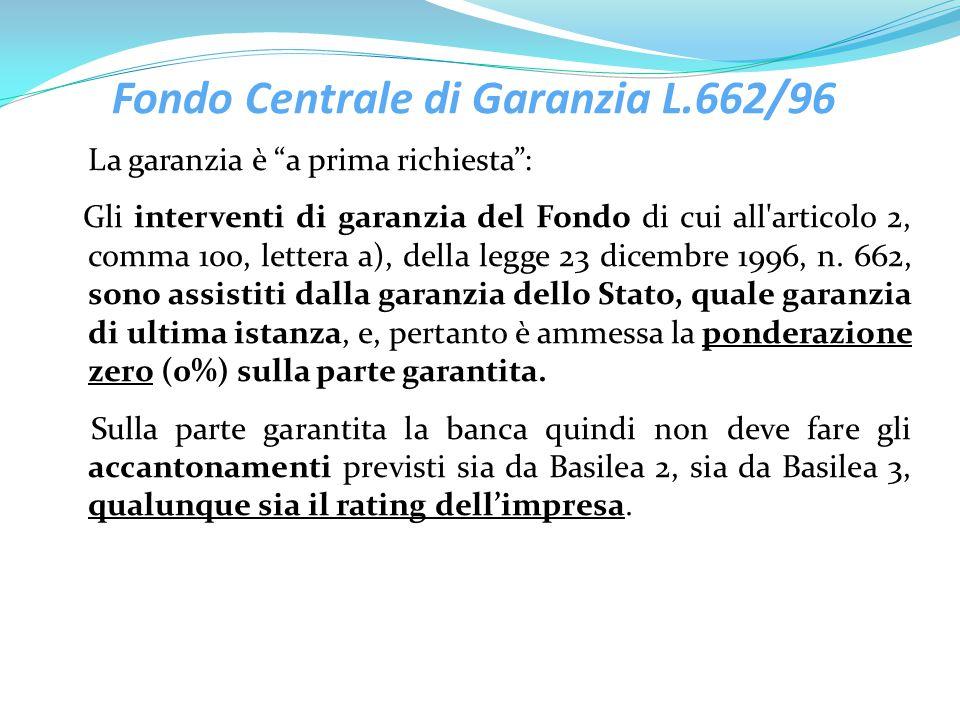 Fondo Centrale di Garanzia L.662/96