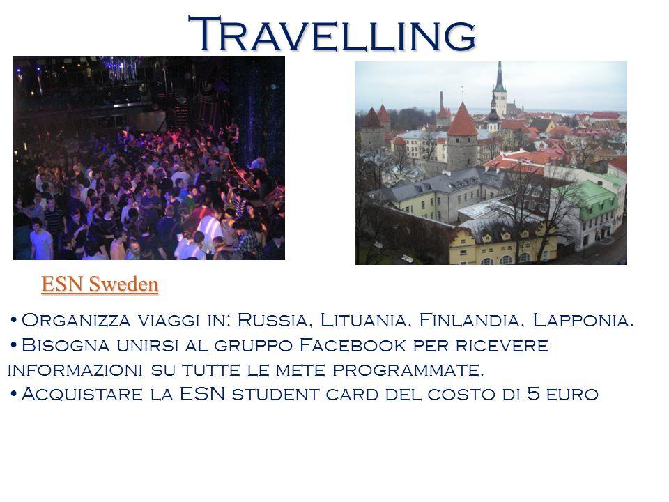 Travelling ESN Sweden. Organizza viaggi in: Russia, Lituania, Finlandia, Lapponia.