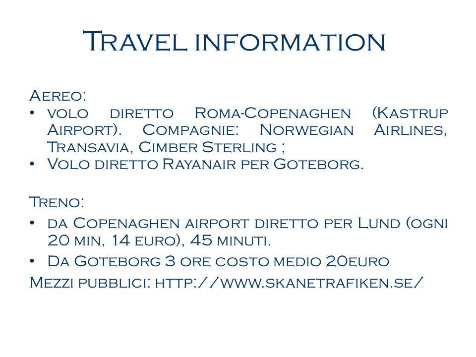 Travel information Aereo:
