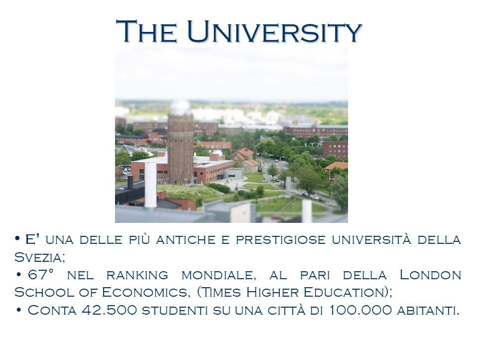 The University E' una delle più antiche e prestigiose università della Svezia;