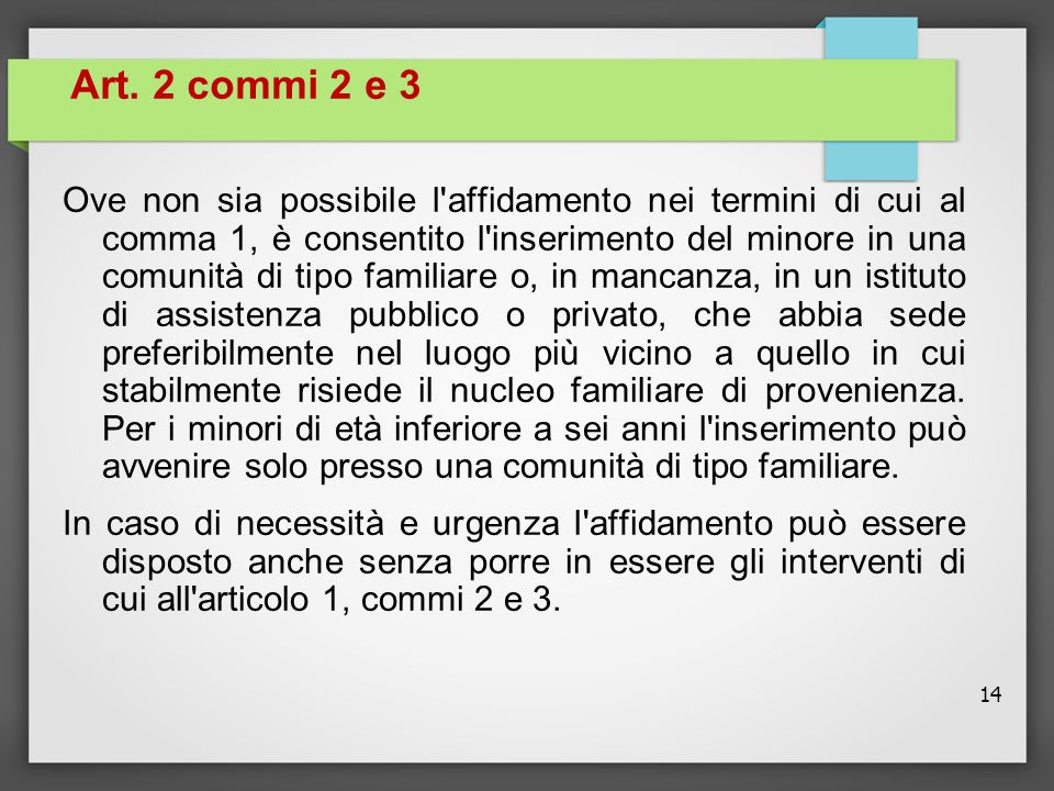 Art. 2 commi 2 e 3