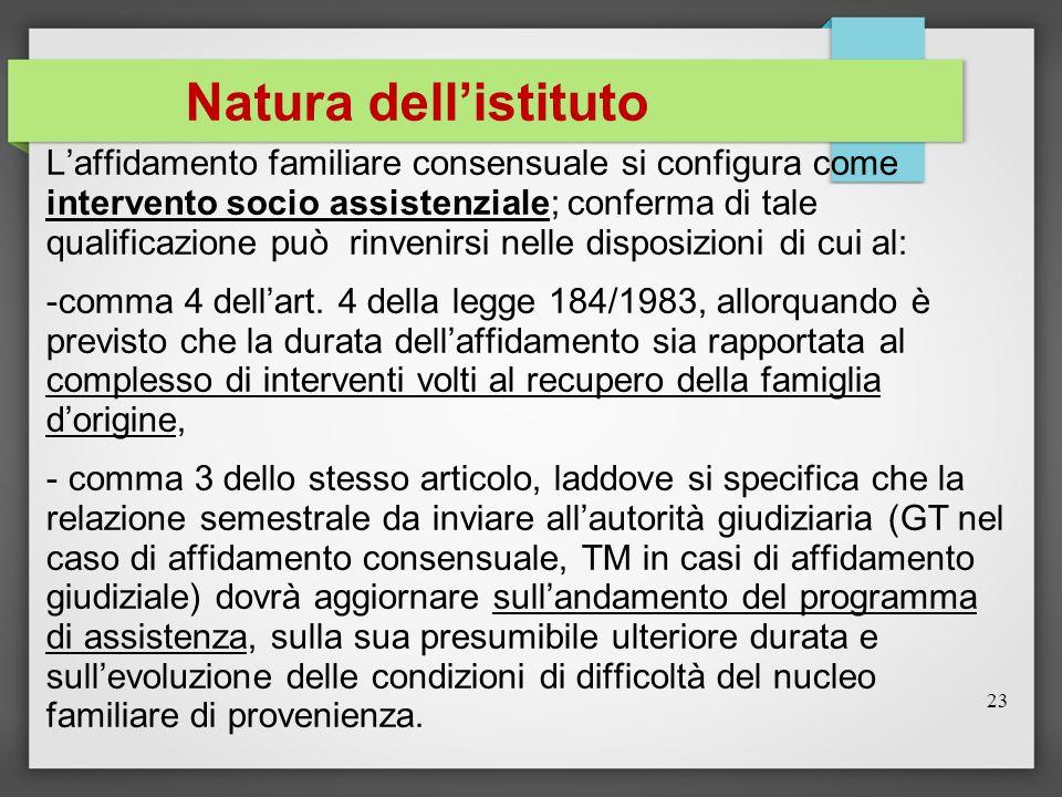 Natura dell'istituto