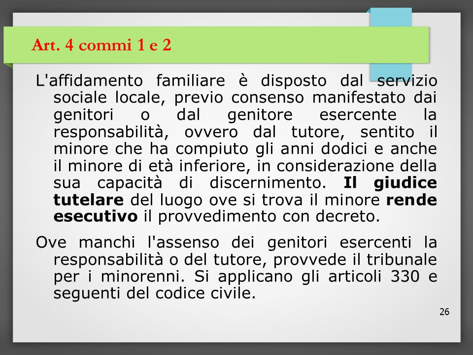 Art. 4 commi 1 e 2
