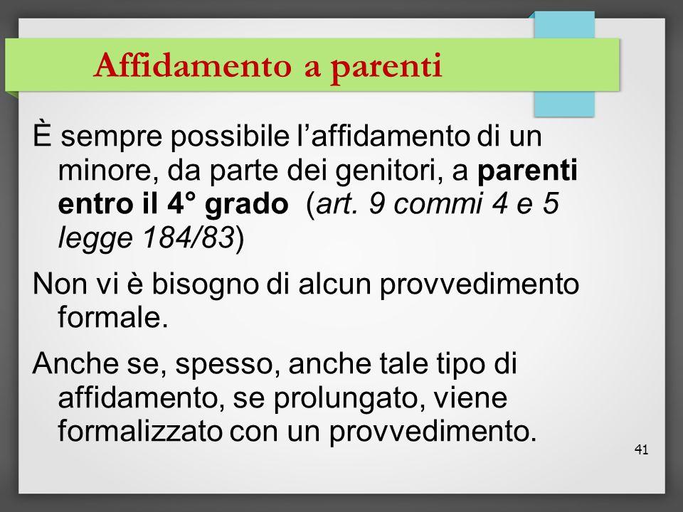 Affidamento a parenti