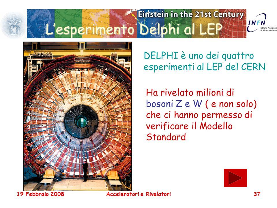 L'esperimento Delphi al LEP