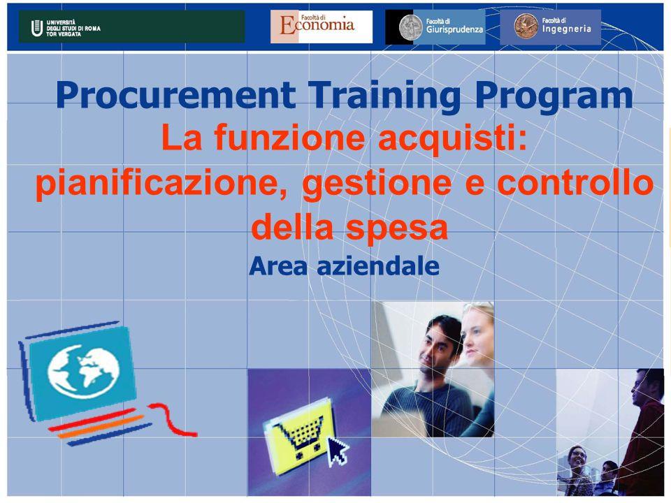 Procurement Training Program pianificazione, gestione e controllo