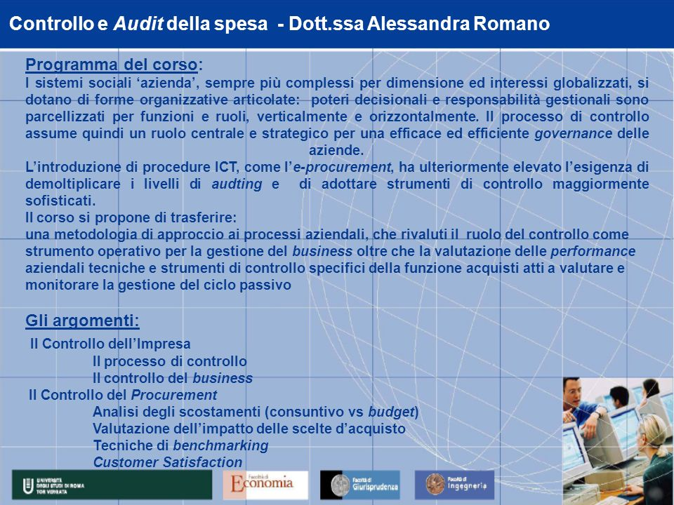 Controllo e Audit della spesa - Dott.ssa Alessandra Romano