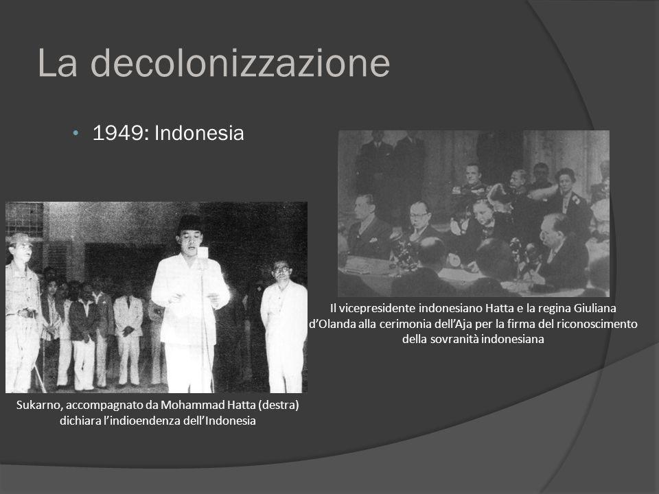 La decolonizzazione 1949: Indonesia