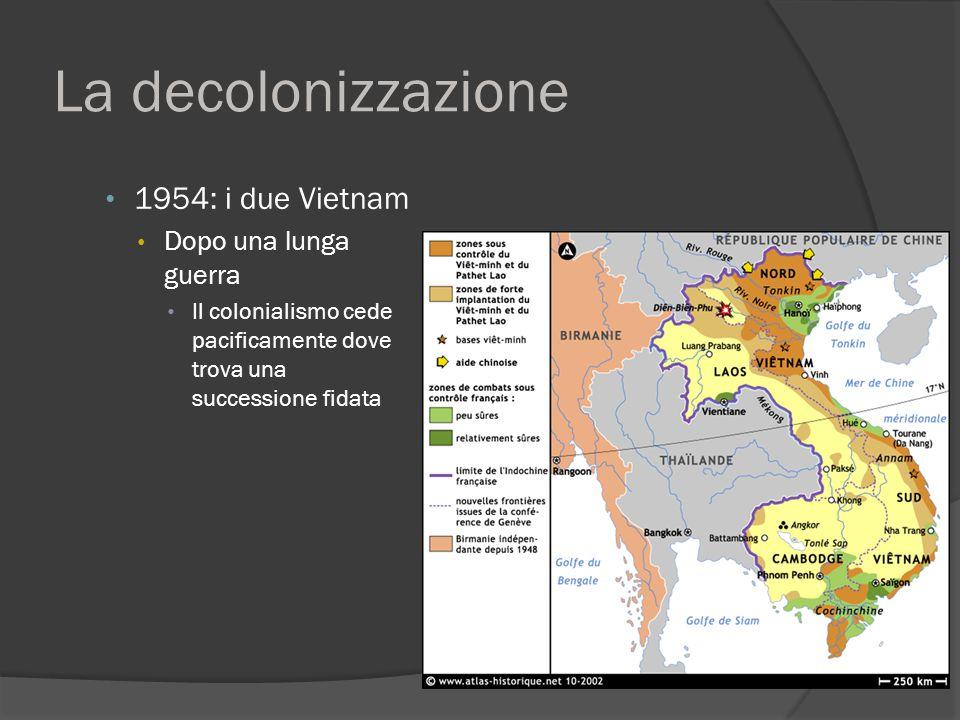 La decolonizzazione 1954: i due Vietnam Dopo una lunga guerra