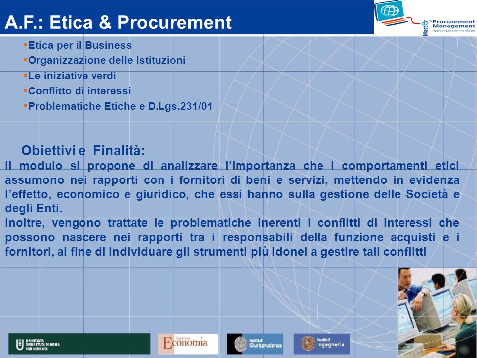 A.F.: Etica & Procurement